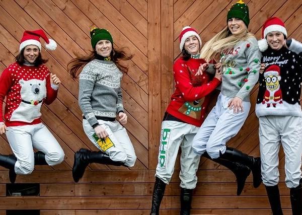 Fairyhouse Racecourse 6/11/2018 Jeannie Cook, Lisa O'Neill, Rachael Balckmore, Aine O'Connor and Karen Ferris Mandatory Credit ©INPHO/Morgan Treacy